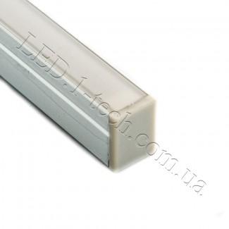 Фото4 Профиль алюминиевый №22 для светодиодных лент накладной 13х10мм (комплект)