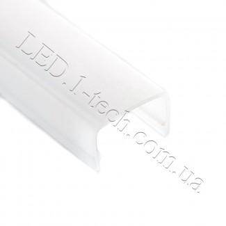 Фото1 Стекло-рассеиватель для LED профиля №2 прямоугольный матовый 21х15х1000мм