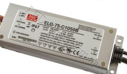 Фото2 ELG-75C-1050B - Драйвер светодиода, 75W, 1050ma
