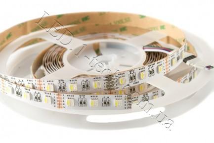 Фото1 RGBCW-5050-60-12 - Многоцветная RGB LED лента + белый холодный, 60xSMD5050