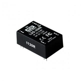 Фото1 LDD-350H - Драйвер светодиода влагозащитный, 9-56VDC>2-52VDC, 20Вт, 350 mа