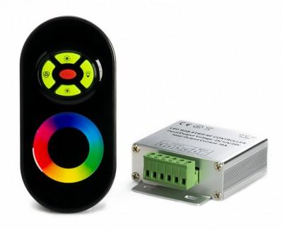 Фото1 LT-CTR55/1 - RGB контроллер, 3 канала, 18А, 12V, черный сенсорный радио-пульт