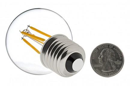 Фото2 SLL E27-G45-4W - LED лампа филамент, 4W, тип G45, цоколь E27, круглая