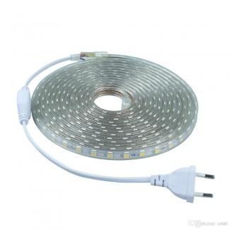Фото2 LED лента 220V RGB STANDART №12 - SMD2835, 48 д/м, 6W, IP65 + комплектующие