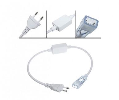 Фото3 LED лента 220V STANDART #15  - SMD3014, 120 д/м, 5.5W, белый нейтральный, IP65 + комплектующие