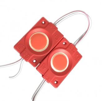 Фото1 # 097/4 МТК-СОВ-Round-1Led-R-2,4W - LED модуль COB с линзой, 12V, 2.4W, красный, IP65