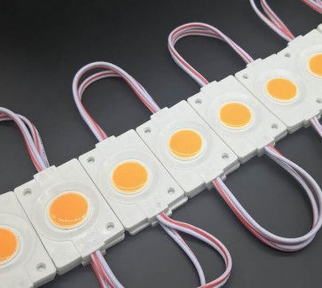Фото1 # 097/2 МТК-СОВ-Round-1Led-WW-2,4W - LED модуль COB с линзой, 12V, 2.4W, теплый, IP65
