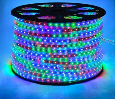 Фото1 LED лента 220V RGB STANDART №12 - SMD2835, 48 д/м, 6W, IP65 + комплектующие
