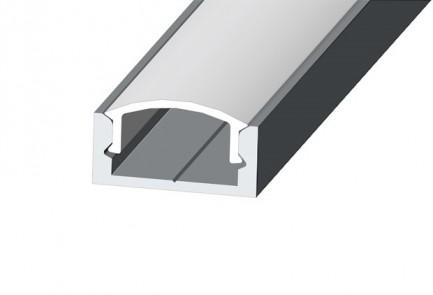 Фото1 LED-профиль ЛП-7 - для лент П-образный, вн.ширина 12,3 мм, размеры 7*16*2000 мм (стекло-рассеиватель