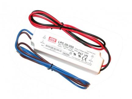 Фото1 LPC-20-350 - Драйвер светодиода, 220VAC>9-48VDC, 20Вт, 350 mа