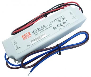Фото1 LPC-35-700 - Драйвер светодиода влагозащитный, 220VAC>9-48VDC, 35Вт, 700 ma