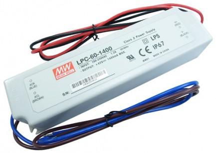 Фото1 LPC-60-1400 - Драйвер светодиода, 220VAC>9-48VDC, 60Вт, 1400 mа