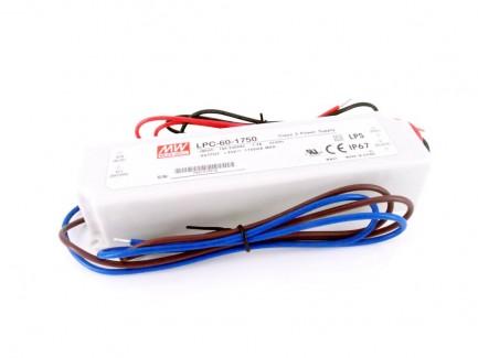 Фото1 LPC-60-1750 - Драйвер светодиода влагозащитный, 220VAC>9-34VDC, 60Вт, 1750 mа