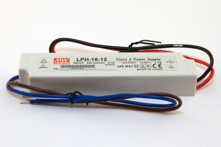 Фото1 LPH-18-12 - Блок питания герметичный 12 Вольт, 18W, 1.5 A