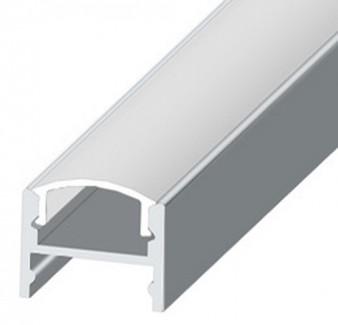 Фото2 LED-профиль ЛПС-12 - для лент П-образный под клипсы, вн.ширина 12,3 мм, размеры 12*16*2000 мм (стекл