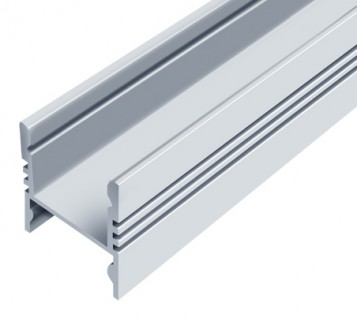Фото1 LED-профиль ЛПС-17 - для лент П-образный под клипсы, вн.ширина 12,3 мм, размеры 17*16*2000 мм (стекл