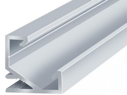 Фото1 LED-профиль ЛПУ-17 - угловой для LED лент, вн.ширина 12,3 мм, размер 17*17*2000 мм, (стекло-рассеива