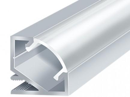 Фото2 LED-профиль ЛПУ-17 - угловой для LED лент, вн.ширина 12,3 мм, размер 17*17*2000 мм, (стекло-рассеива