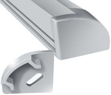 Фото1 ЗПУО - Торцевая пластиковая заглушка для LED профиля серии ЛПУ-17 с отверстием, цвет - серый
