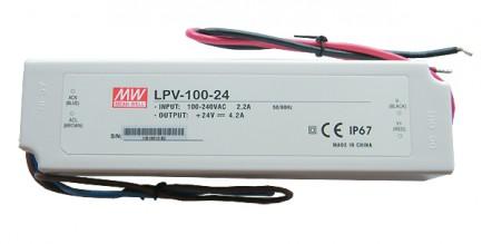 Фото1 LPV-100-24 - Блок питания 24 Вольт, 100W, 4,2 A