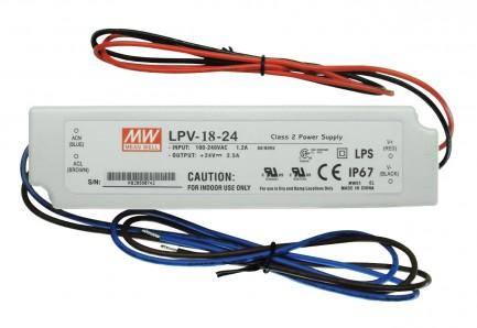 Фото1 LPV-18-24 - Блок питания герметичный 24 Вольт, 18W, 0.75A