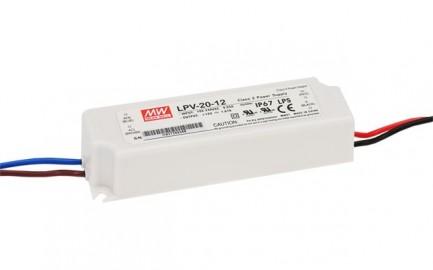Фото1 LPV-20-12 - Блок питания герметичный 12 Вольт, 20W, 1.67 A