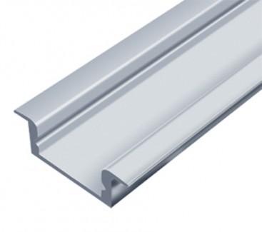 Фото1 LED-профиль ЛПВ-7 - для лент П-образный с фланцем, вн.ширина 12,3 мм, размеры 7*16(22)*2000 мм (стек