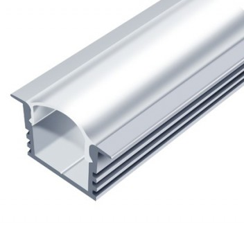 Фото1 LED-профиль ЛПВ-12 - для лент П-образный с фланцем, вн.ширина 12,3 мм, размеры 12*16(22)*2000 мм (ст