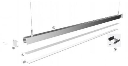 Фото5 LS3535 - LED профиль подвесной, комплект