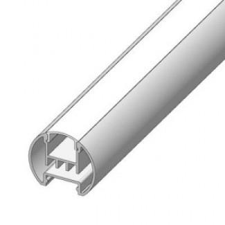 Фото1 LED-профиль ЛСК для лент круглой формы, вн.ширина 12,2 мм, размеры 23,5*28,7*2000 мм (стекло-рассеив