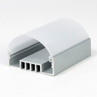Фото2 LED-профиль ЛСО для лент П-образный с внутреней площадкой, ширина внутр. площадки 16 мм, размеры 12*