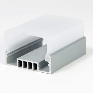 Фото3 LED-профиль ЛСО для лент П-образный с внутреней площадкой, ширина внутр. площадки 16 мм, размеры 12*