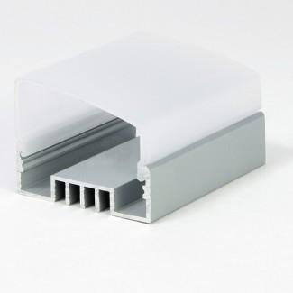 Фото4 LED-профиль ЛСО для лент П-образный с внутреней площадкой, ширина внутр. площадки 16 мм, размеры 12*