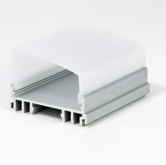 Фото2 LED-профиль ЛСС для лент П-образный, вн.ширина 30,3 мм, размеры 12*36,1*2000 мм (стекло-рассеиватель