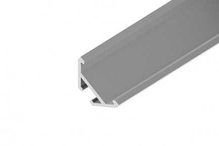 Фото1 LED-профиль ЛСУ для лент угловой, вн.ширина 13,15 мм, размеры 15,3*20,2*2000 мм (стекло-рассеиватель