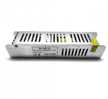 Фото1 PSMF12VDC-8,3A-100W - блок питания серии M, 12V, 8.3A, 100W, + EMC фильтр + регулятор выходного напр