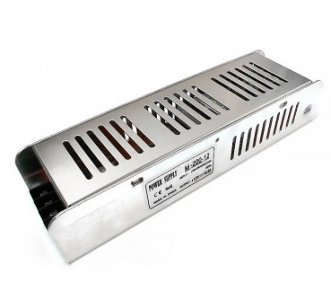 Фото1 PSMF12VDC-16,7A-200W - блок питания серии M, 12V, 16.7A, 200W, + EMC фильтр + регулятор выходного на