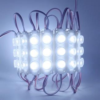 Фото1 МТК-3030-3Led-W-1.6W - LED модуль SMD3030 инжекторный с линзой, IP65