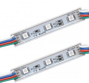 Фото1 МТК-5050-3Led-RGB-0,72W-12V - LED модуль SMD5050, 12V, 0.72W, RGB, IP65