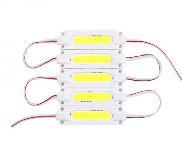 Фото1 # 105 W-МТК-COB-1Led-2W-24V - LED модуль COB с линзой, 24V, 2W, белый, IP65