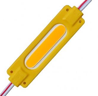Фото1 # 095/6 МТК-COB-1Led-Y-2W - LED модуль COB с линзой, 12V, 2W, желтый, IP65