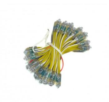 Фото1 MTK-LED-Y-0,08W-IP65-12V 10mm - LED модуль быстрого монтажа, 12V, 0.08W, желтый, IP65