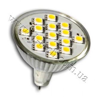 Фото1 LED лампа MR16-15SMD 5050
