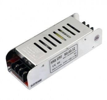 Фото1 PSMS12VDC-5A-60W - блок питания серии MS, 12V, 5A, 60W