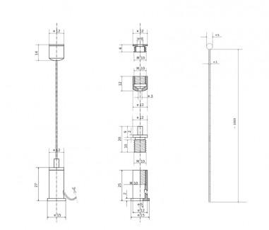 Фото2 Комплект тросового подвеса с цанговым зажимом №2