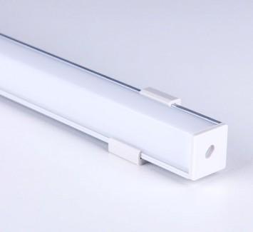 Фото3 ПФ №9 SQUARE - LED профиль угловой 16*16, матовый квадратный рассеиватель