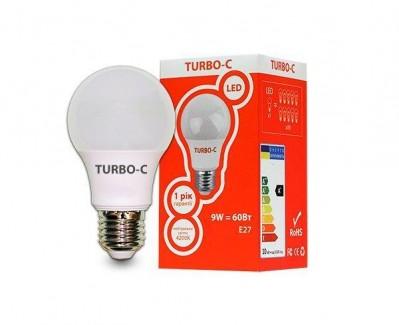 Фото1 Лампа LED А60 9Вт Е27 4200K TURBO-С