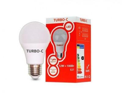 Фото1 Лампа LED А60 12Вт Е27 4200K TURBO-С