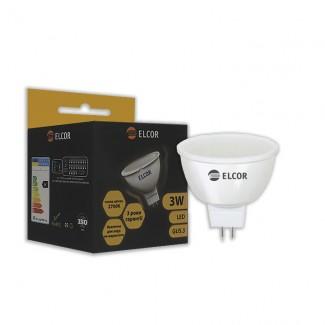 Фото1 Лампа LED MR16 3Вт GU5.3 2700K ELCOR