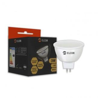 Фото1 Лампа LED MR16 3Вт GU5.3 4200K ELCOR